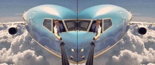 selfiestickplane